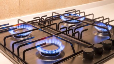 gas range double oven